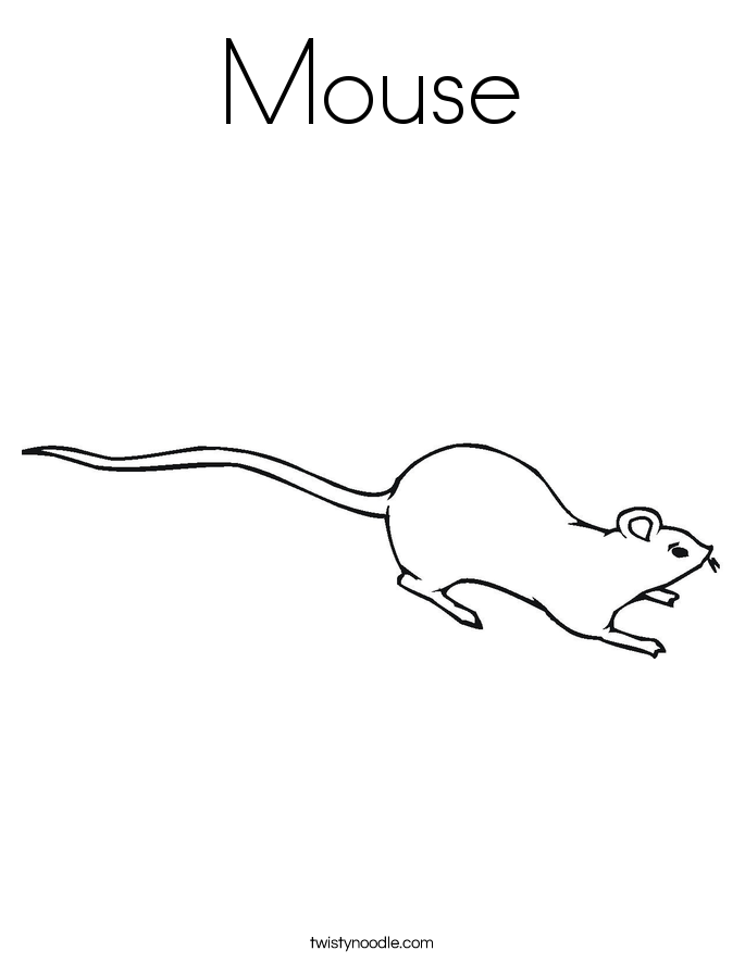 Mouse Coloring Page Twisty Noodle