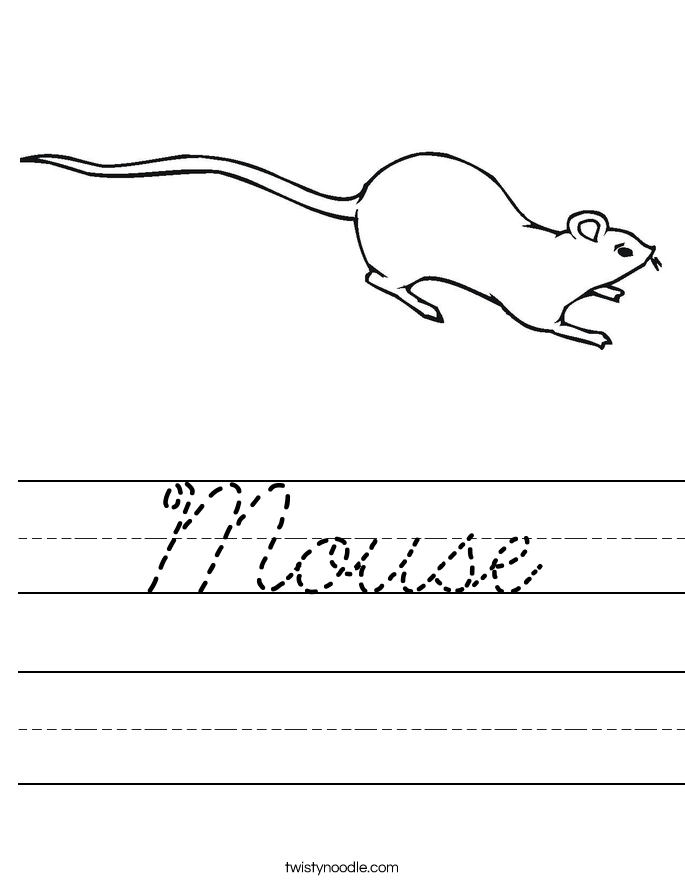 Mouse Worksheet