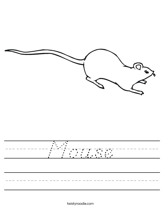 Mouse Worksheet