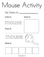 Mouse Activity Coloring Page