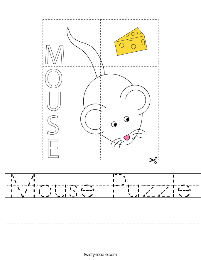 Mouse Puzzle Worksheet