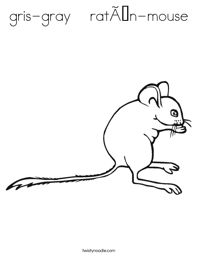 gris-gray    ratón-mouse Coloring Page