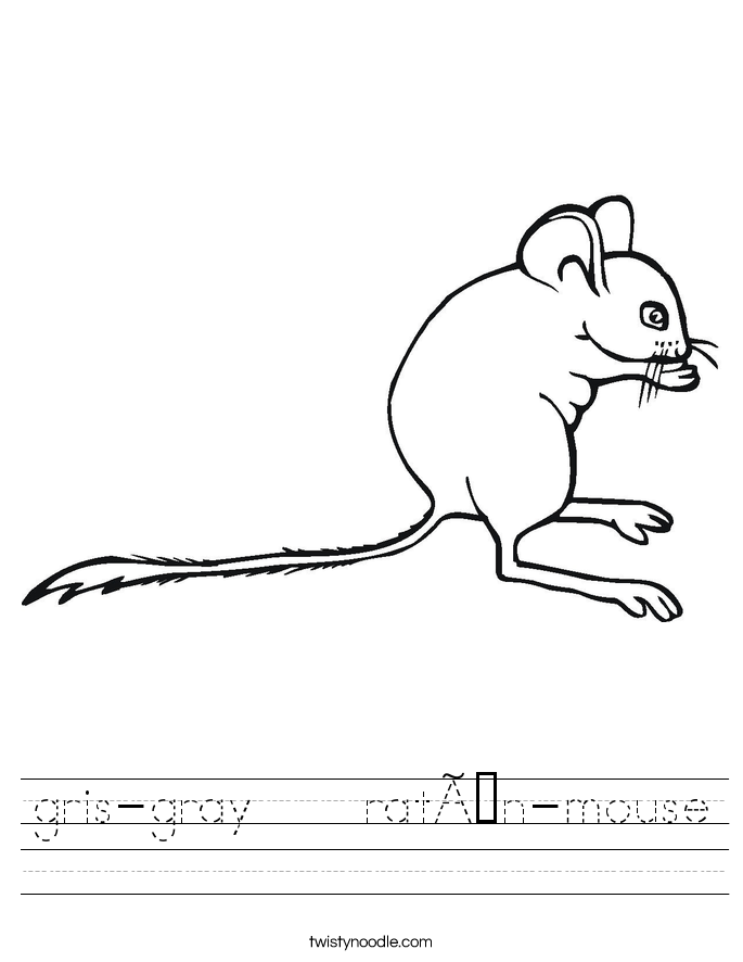 gris-gray    ratón-mouse Worksheet