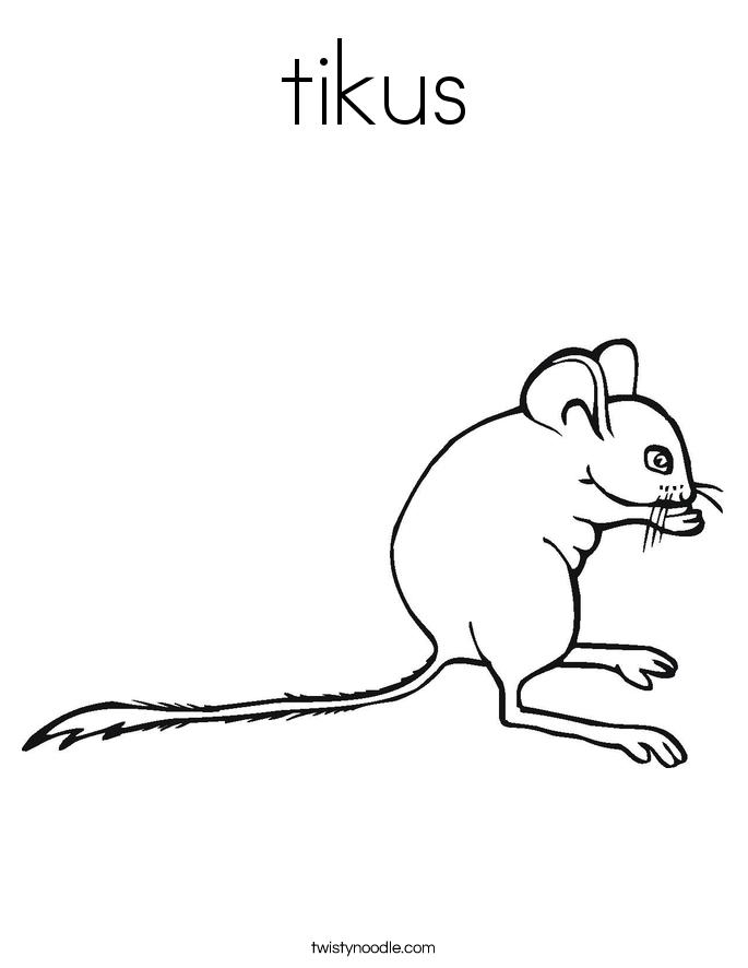 tikus Coloring Page