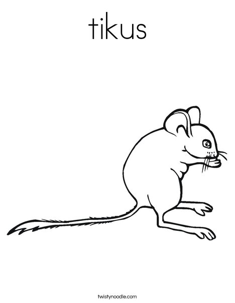 Mouse1 Coloring Page