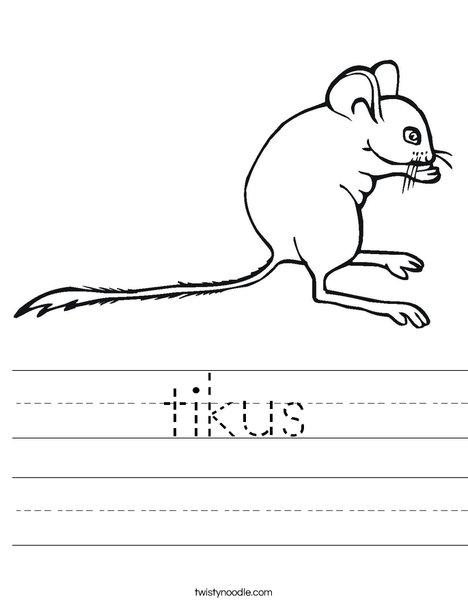 Mouse1 Worksheet