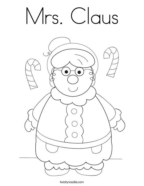 Mrs. Claus Coloring Page