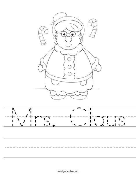 Mrs. Claus Worksheet