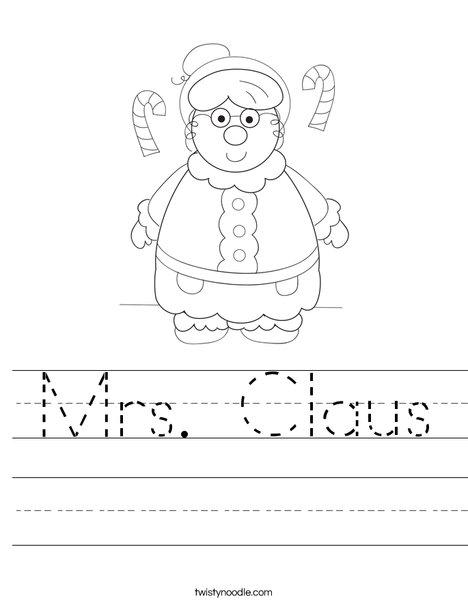 Mrs. Claus Worksheet