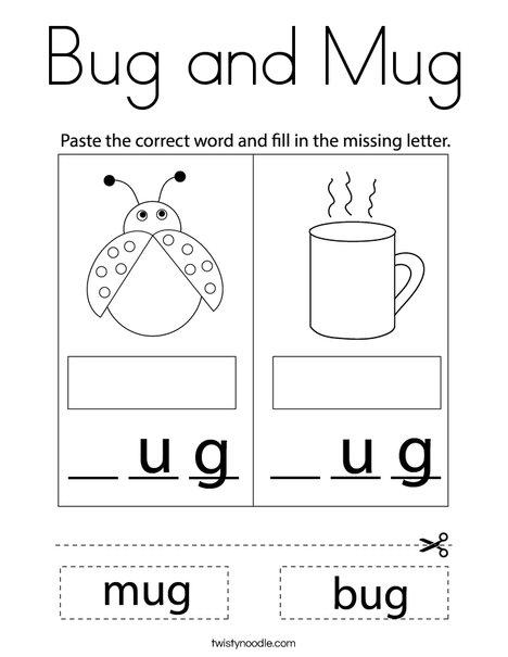 Mug and Bug Coloring Page