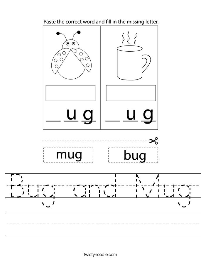 Bug and Mug Worksheet