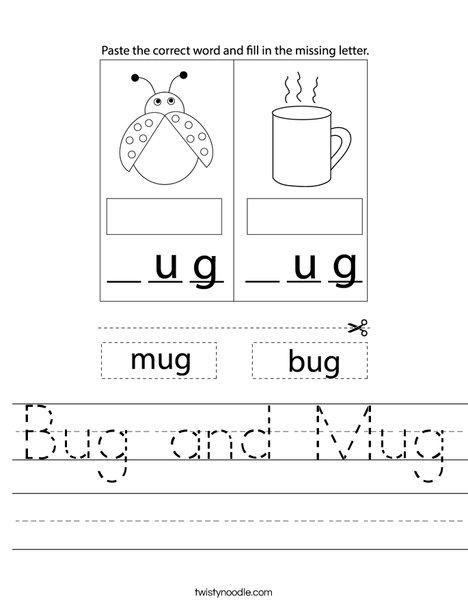 Mug and Bug Worksheet