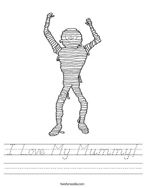 Mummy Worksheet