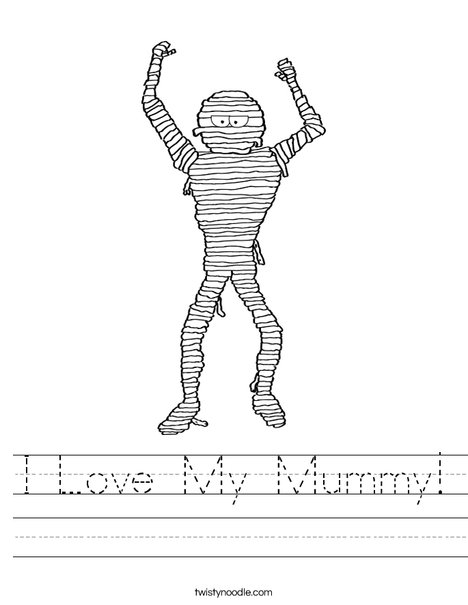 Mummy Worksheet