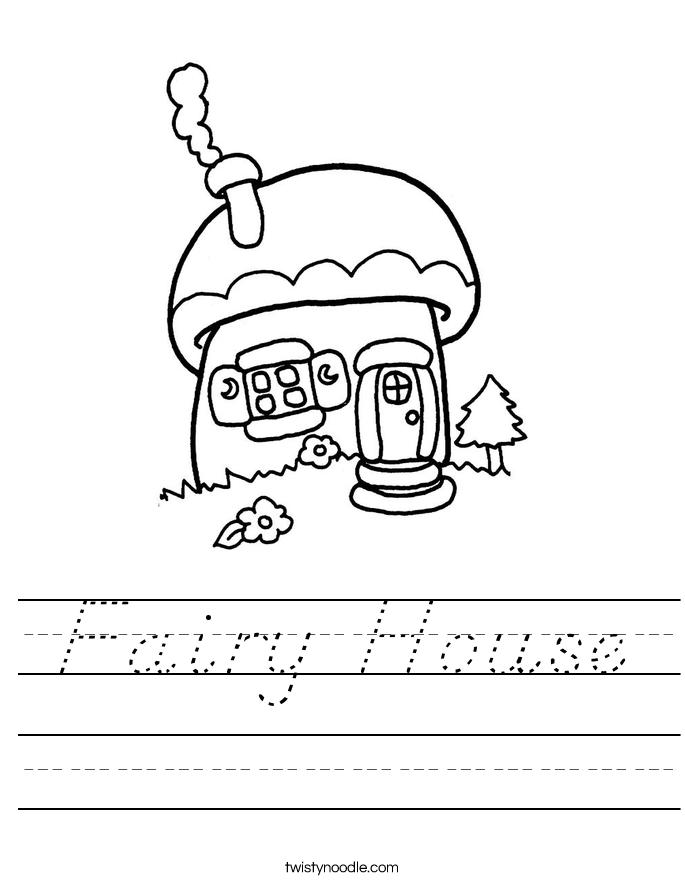 Fairy House Worksheet