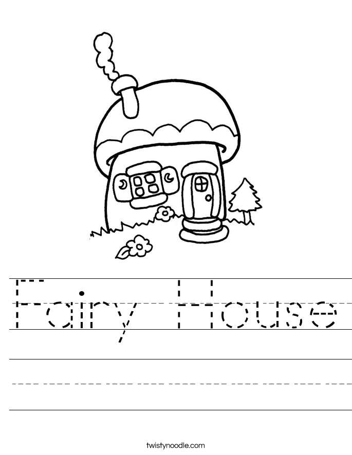 Fairy House Worksheet