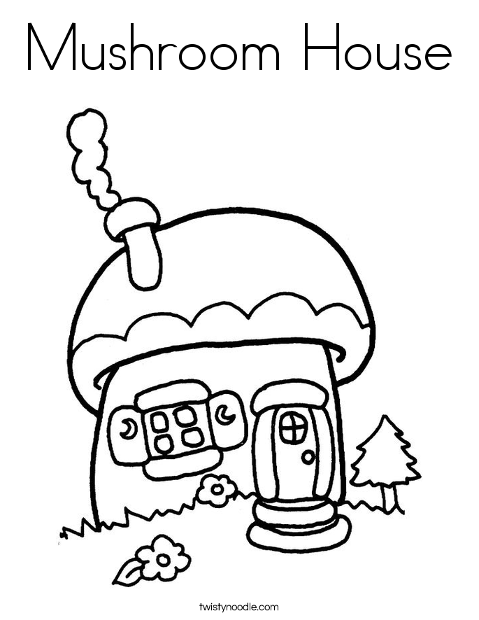 Smurf Mushroom House Coloring Pages - Bltidm