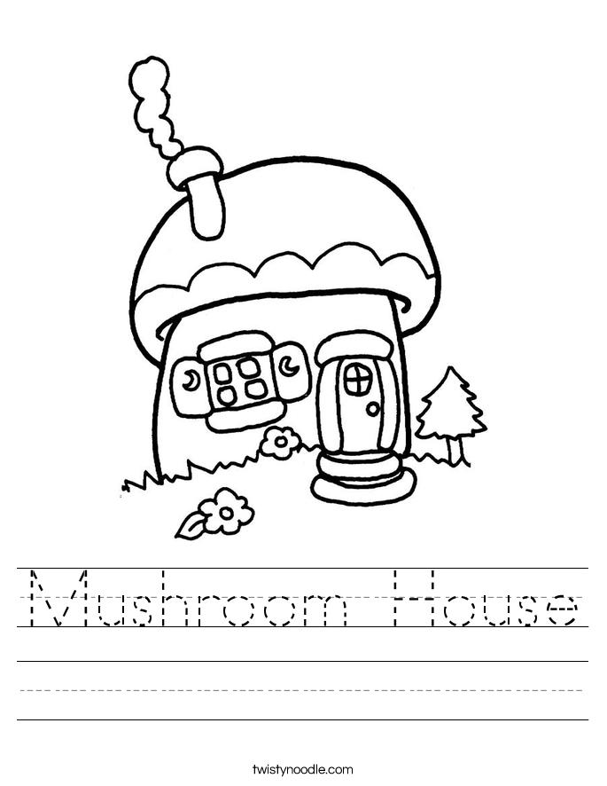 Mushroom House Worksheet