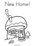 New Home! Coloring Page