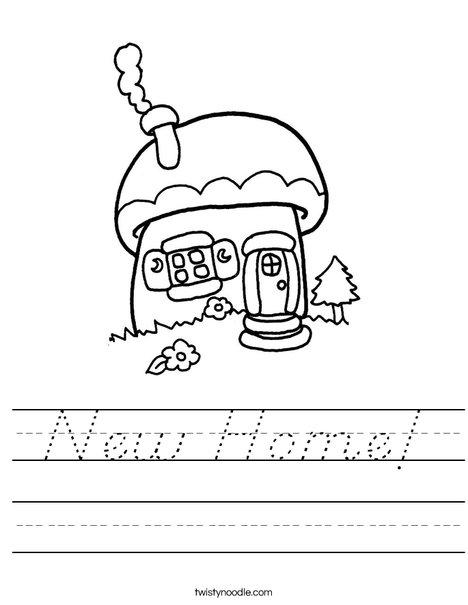 Mushroom Cottage Worksheet