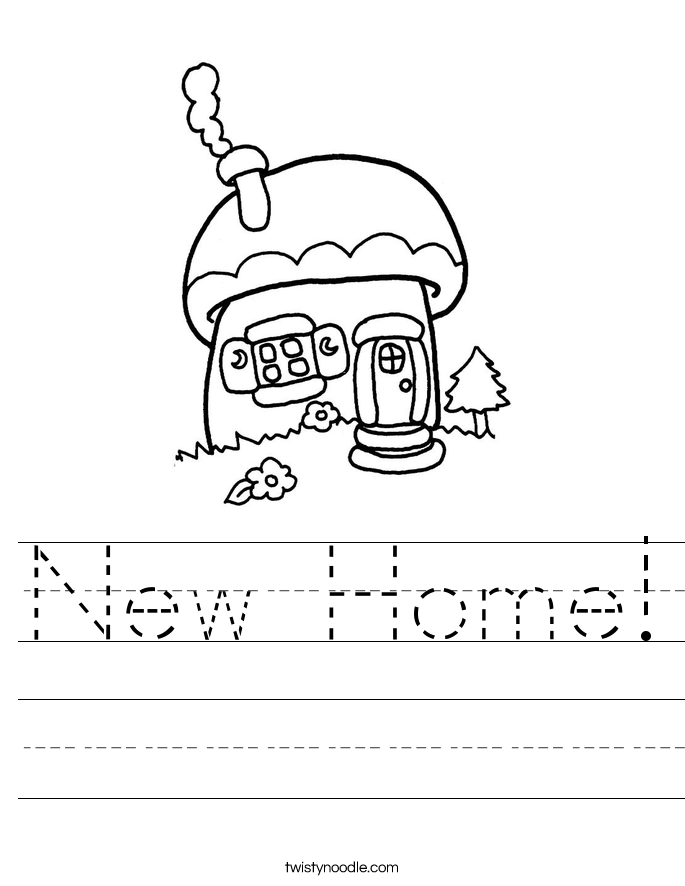 New Home! Worksheet