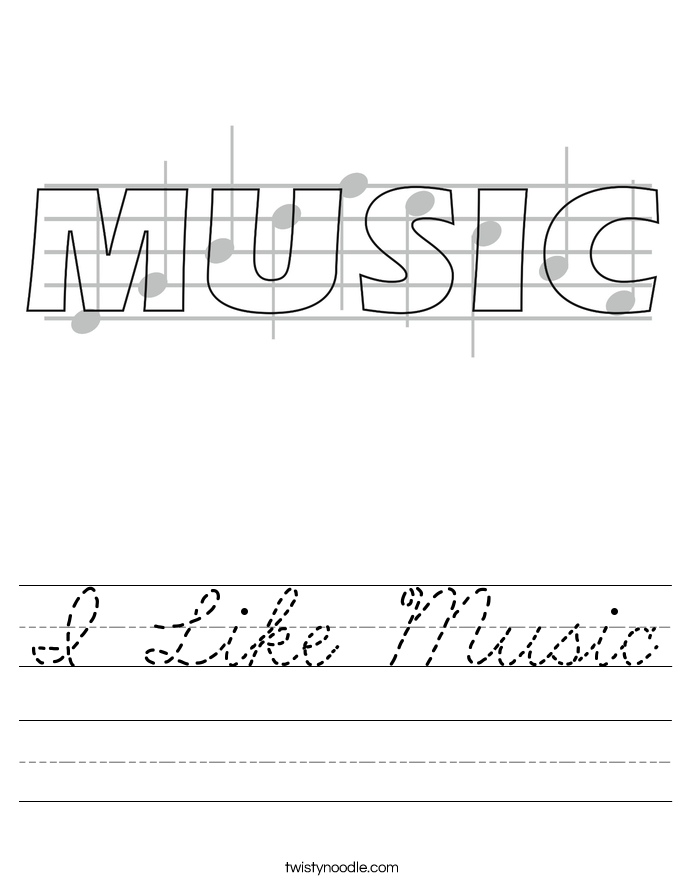 I Like Music Worksheet