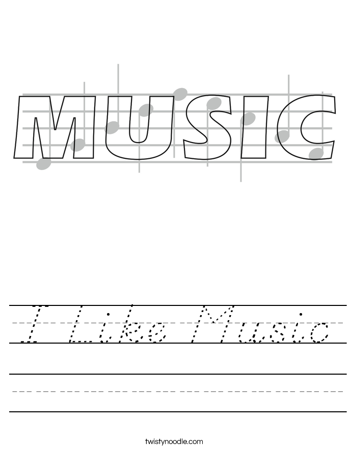 I Like Music Worksheet