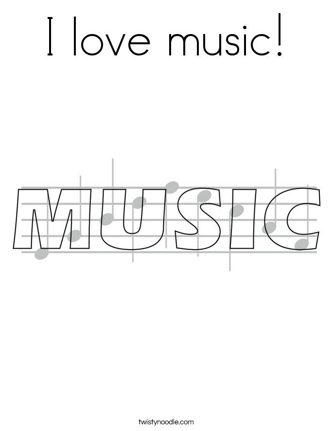 I love music! Coloring Page