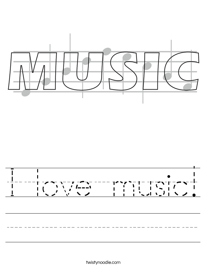 I love music! Worksheet