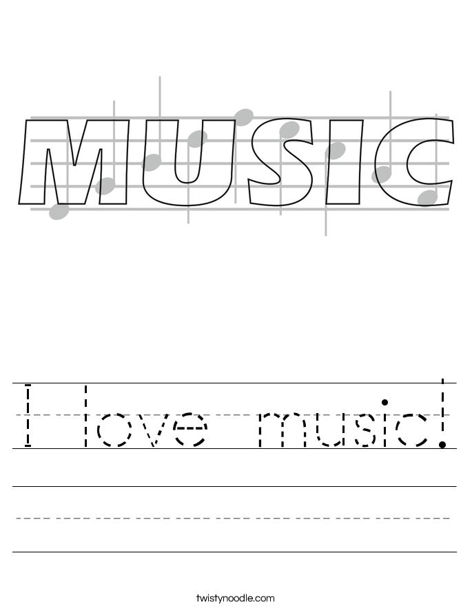 I love music! Worksheet