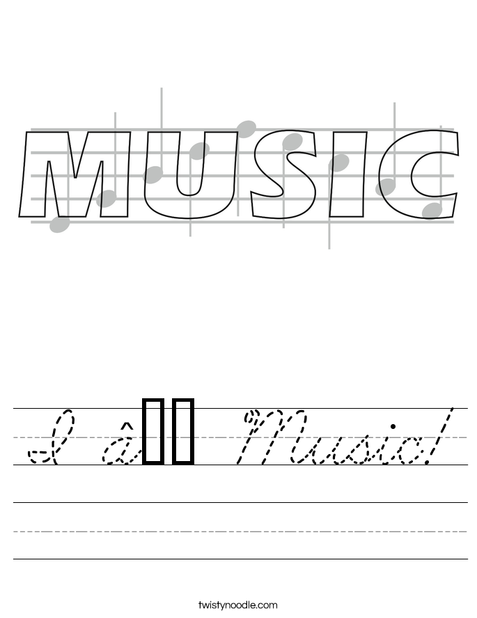 I ♥ Music! Worksheet