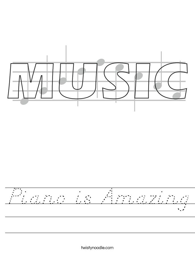 Piano is Amazing Worksheet