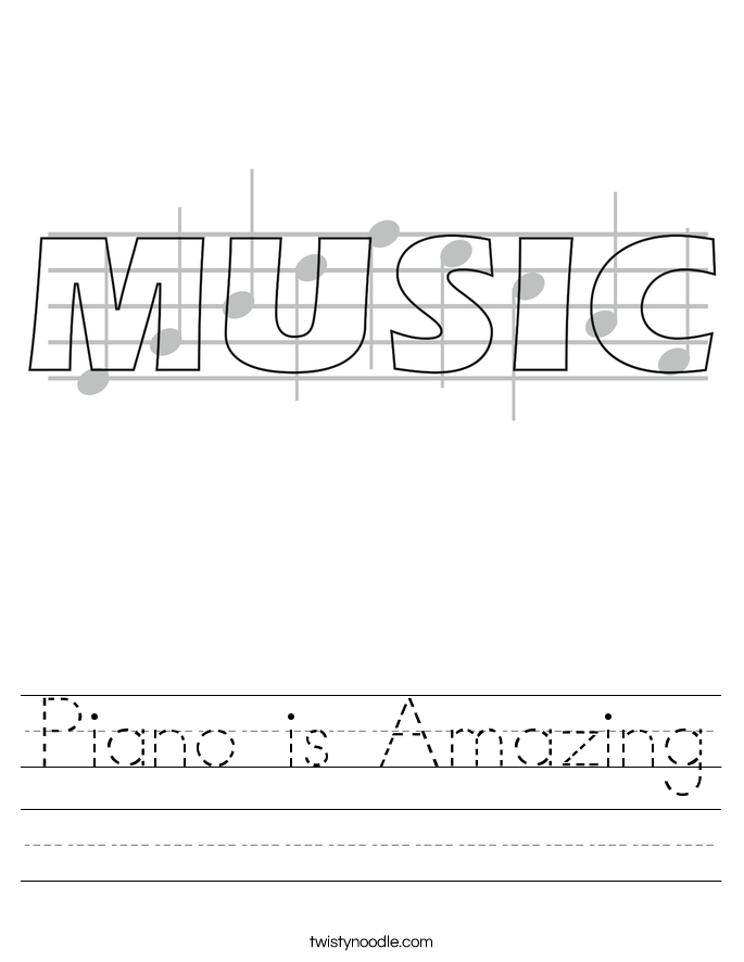 Piano is Amazing Worksheet