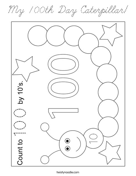 My 100th Day Caterpillar!  Coloring Page