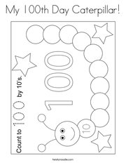 My 100th Day Caterpillar Coloring Page