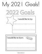 My 2021 Goals Coloring Page