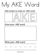 My AKE Word Coloring Page