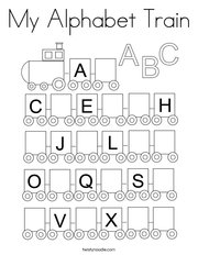 My Alphabet Train Coloring Page