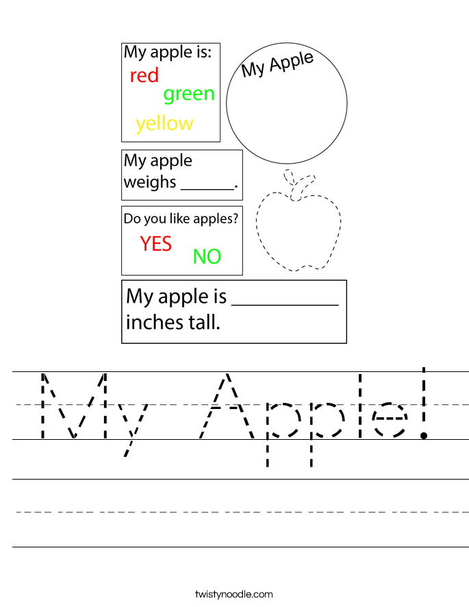 My Apple! Worksheet