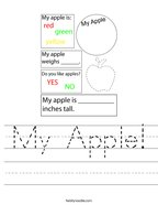 My Apple Handwriting Sheet