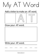My AT Word Coloring Page