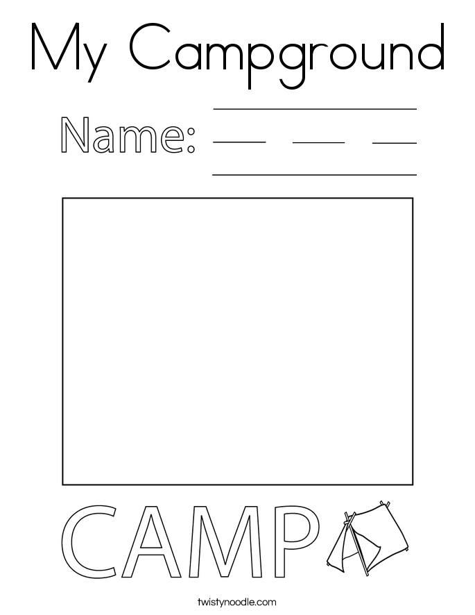 My Campground Coloring Page