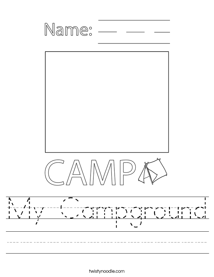 My Campground Worksheet