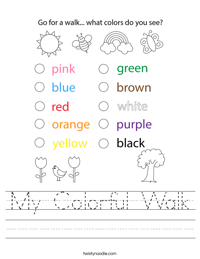 My Colorful Walk Worksheet