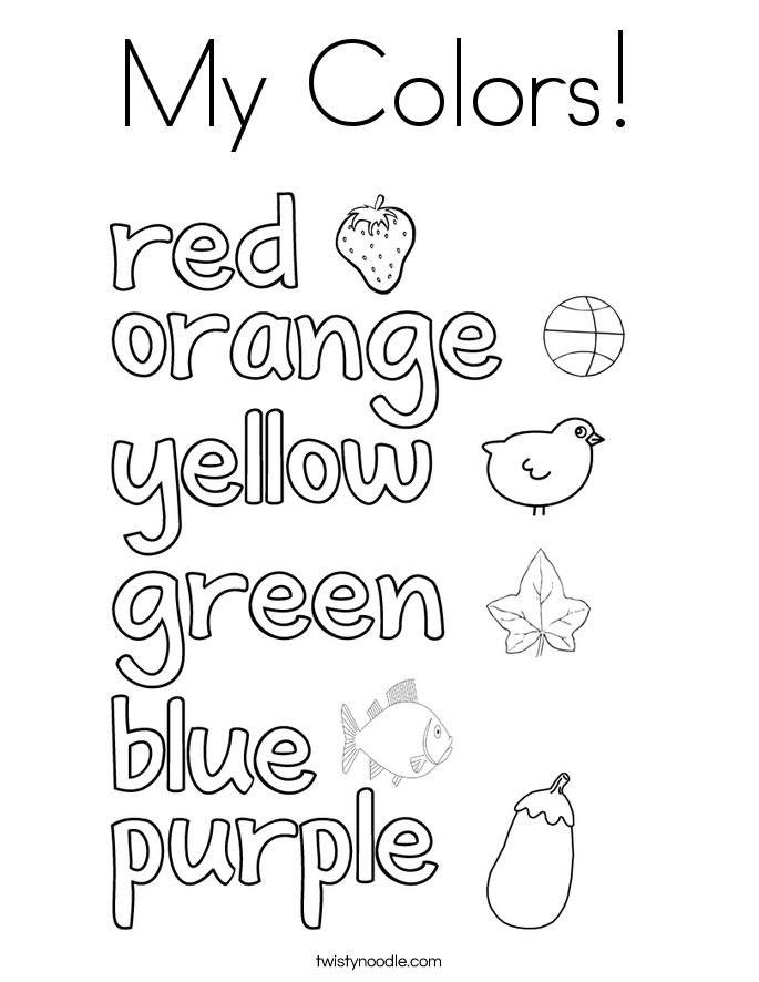 96 color words coloring pages for kindergarten for Color word coloring pages