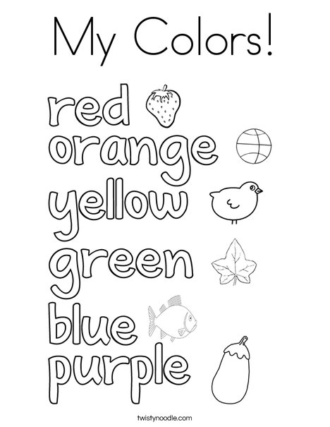 My Colors! Coloring Page