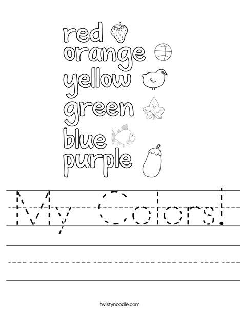My Colors! Worksheet