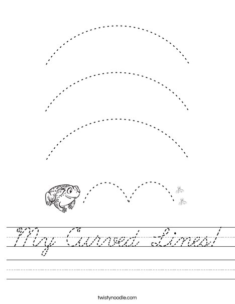 My Curved Lines Worksheet