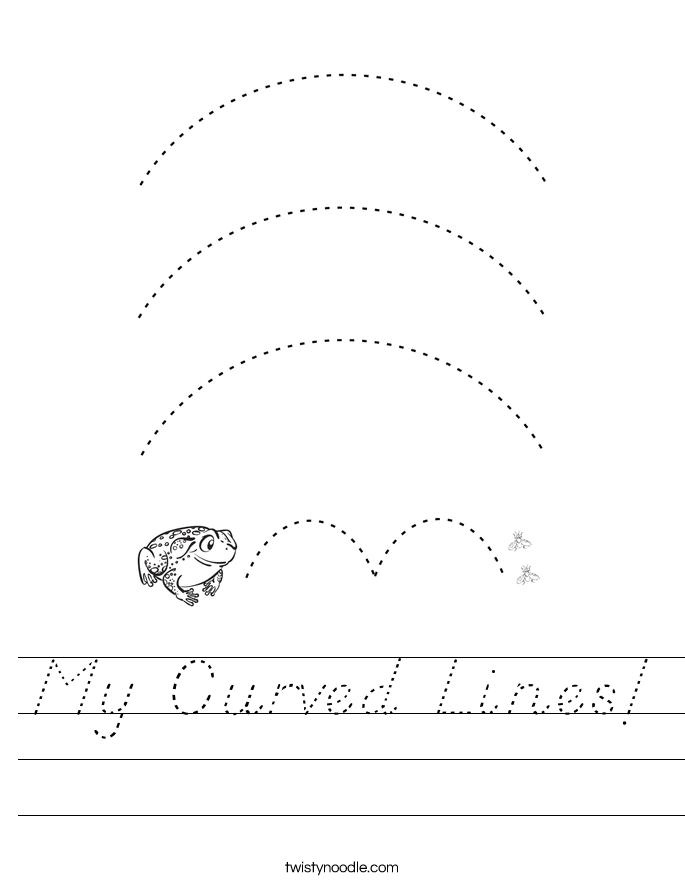 My Curved Lines! Worksheet