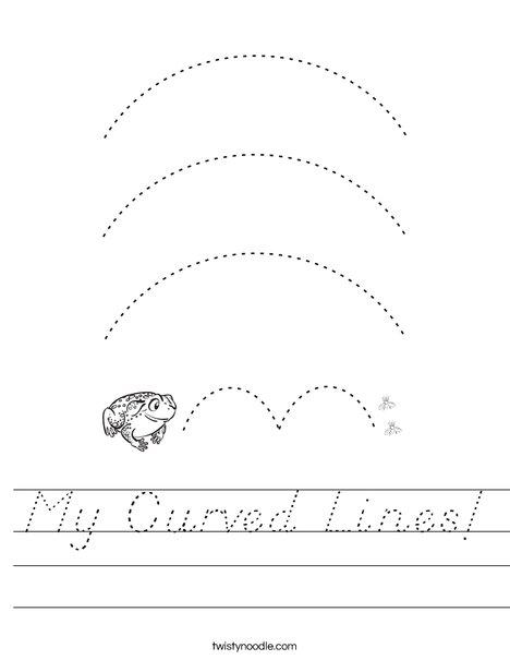 My Curved Lines Worksheet